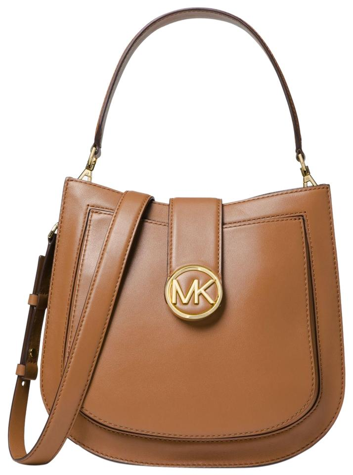 d8c44575b31c Michael Kors Lillie Medium Acorn Leather Shoulder Bag - Tradesy