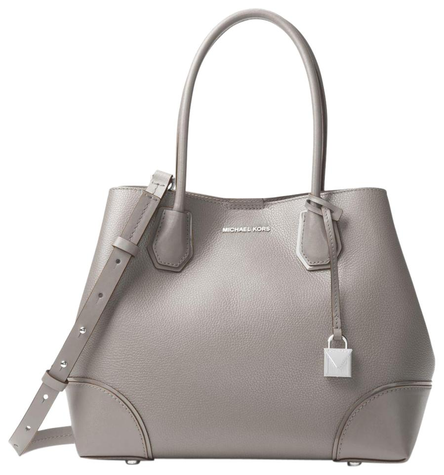 905dd81a1db217 Michael Kors Leather 191935084330 Satchel in Pearl Grey Image 0 ...