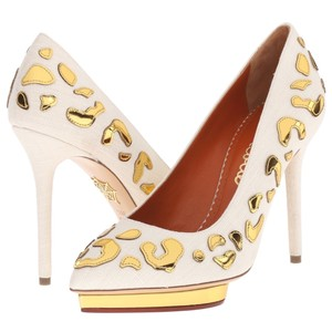 Charlotte Olympia Ivory, gold Pumps