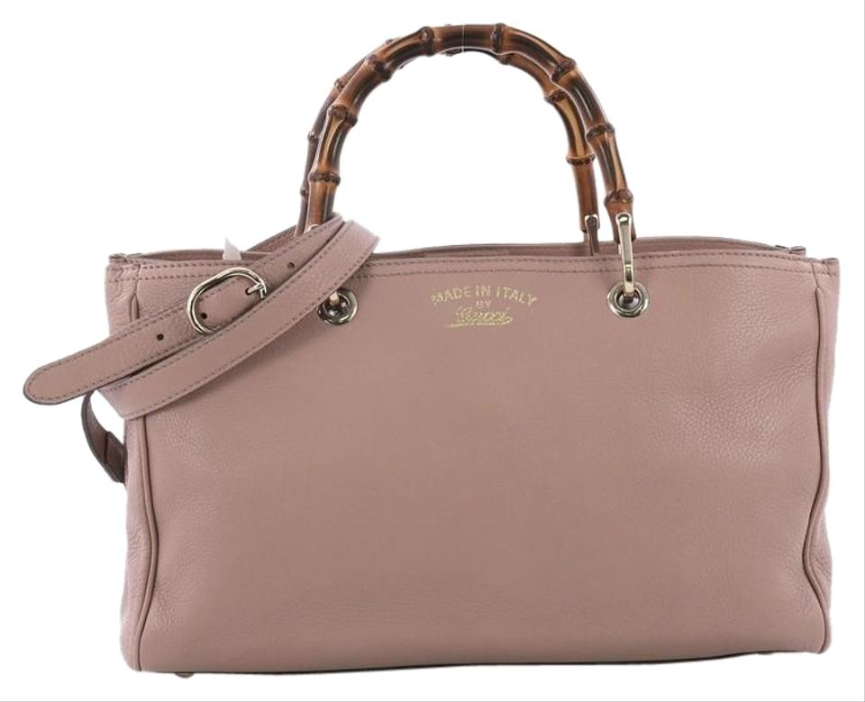 bd13430f2fb Gucci Bamboo Shopper Medium Mauve Leather Tote - Tradesy