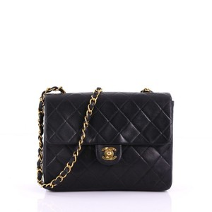 218b16870cc1 Added to Shopping Bag. Chanel Leather Shoulder Bag. Chanel Classic Flap  Vintage Square Quilted Small Black Lambskin ...