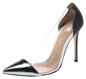 Gianvito Rossi Patent Leather Suede Grey Pumps
