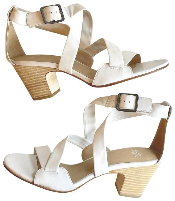 Item - White Strappy Leather Sandals Size US 7.5 Regular (M, B)