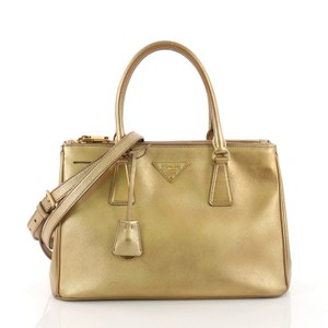 Prada Leather Tote in gold
