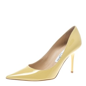 Jimmy Choo Patent Leather Leather Yellow Pumps