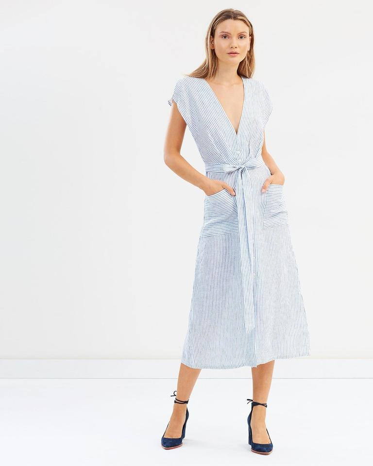 16361ffc Bec & Bridge Stripe XS Isabella Midi Mid-length Casual Maxi Dress Size 2  (XS) - Tradesy