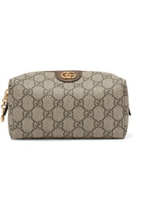 Gucci Ophidia medium textured leather-trimmed printed coated-canvas cosmetic