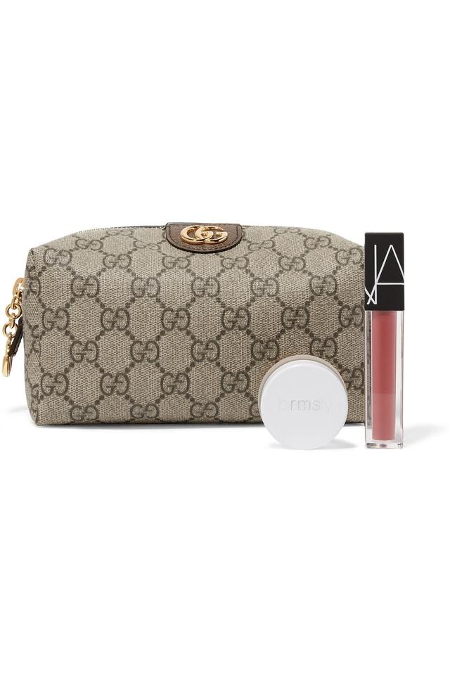 8c04d99e12f Gucci Ophidia medium textured leather-trimmed printed coated-canvas  cosmetic Image 3. 1234