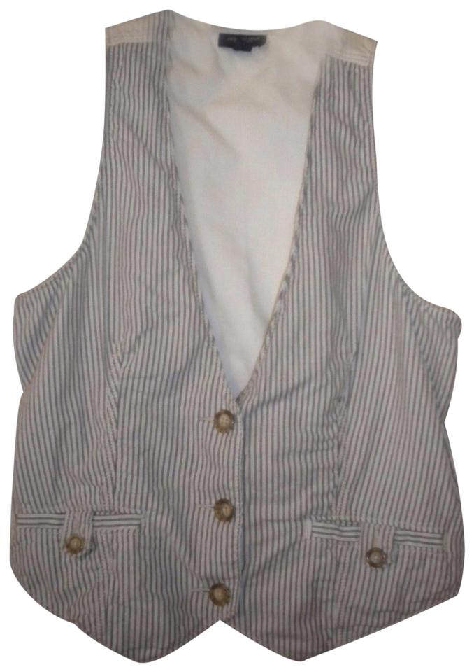 4fa26e8132d American Eagle Outfitters Black White Women Small Vest Button-down ...