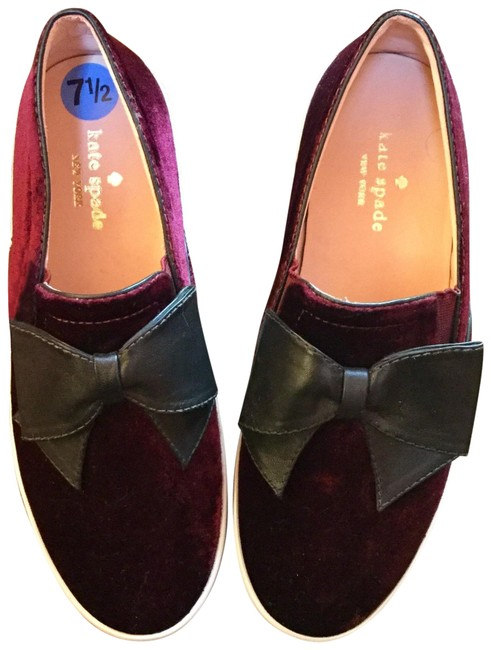 Kate Spade Maroon Black White Delise Flats Size US 7.5 Regular (M, B) Kate Spade Maroon Black White Delise Flats Size US 7.5 Regular (M, B) Image 1