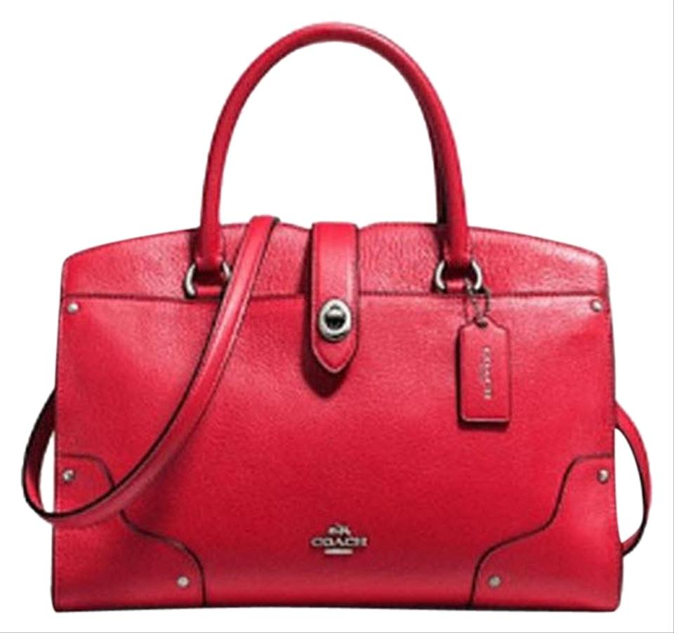 Coach Mercer In Grain True Red Leather Satchel - Tradesy 78004a648cde7
