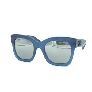 a4abd1edf695 Chanel Chanel Butterfly Squared Blue Silver Mirrored Sunglasses 5357  1571 W6.