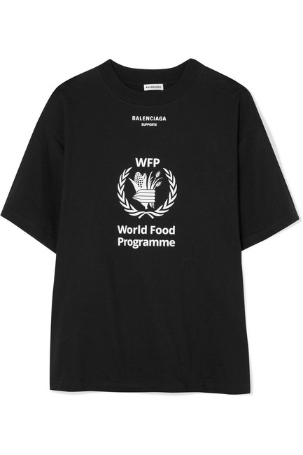 Item - Jersey + World Food Programme Printed Cotton-jersey T-shirt Tee Shirt Size 4 (S)