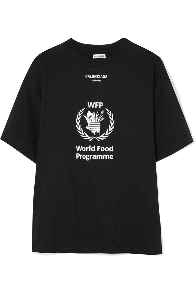 a5d8e8108175 Balenciaga + World Food Programme Printed Cotton-jersey T-shirt Tee Shirt