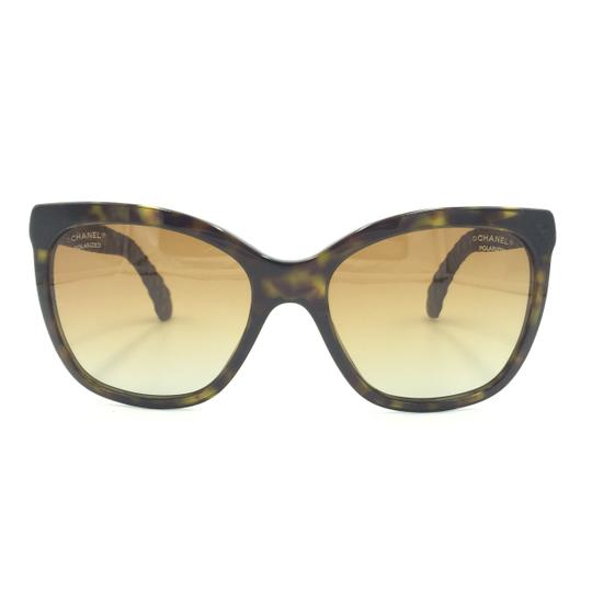 Chanel Havana Transparent Cat Eyed Polarized Quilted Sunglasses 5288 714/S9 Image 1