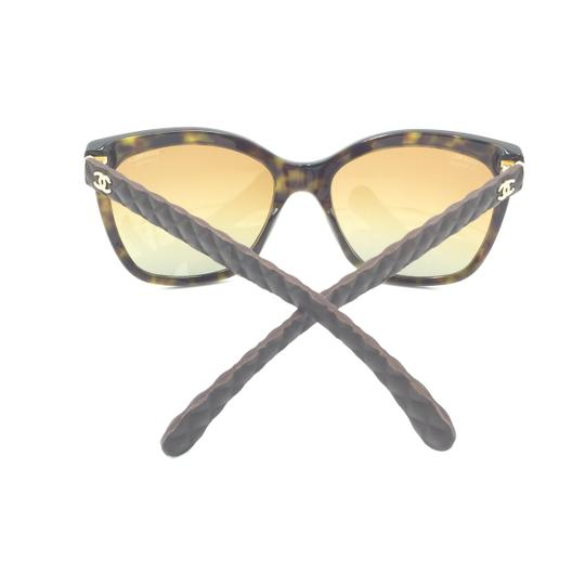 Chanel Havana Transparent Cat Eyed Polarized Quilted Sunglasses 5288 714/S9 Image 2