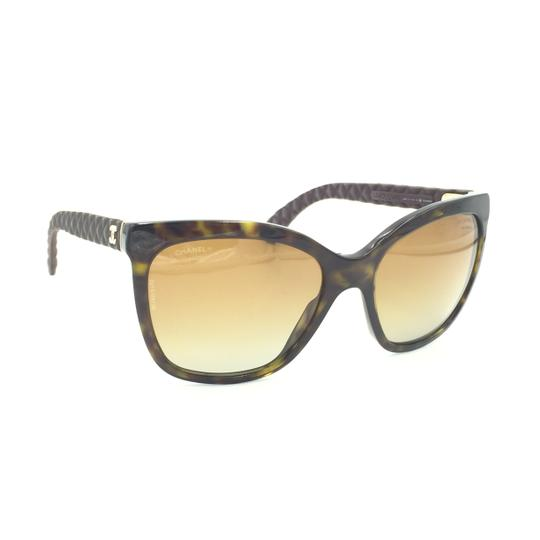 Chanel Havana Transparent Cat Eyed Polarized Quilted Sunglasses 5288 714/S9 Image 3