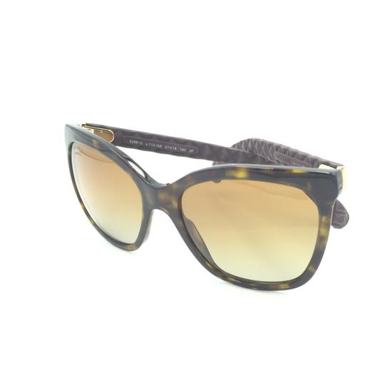 Chanel Havana Transparent Cat Eyed Polarized Quilted Sunglasses 5288 714/S9 Image 4