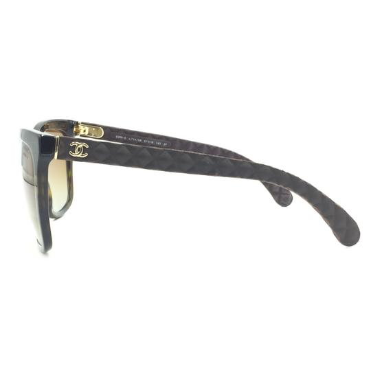 Chanel Havana Transparent Cat Eyed Polarized Quilted Sunglasses 5288 714/S9 Image 7