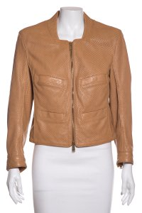 Dsquared2 Tan Leather Jacket