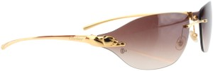 Cartier Cartier Brown 110 Panthere Rimless Sunglasses