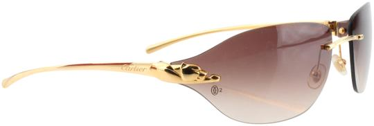Cartier Cartier Brown 110 Panthere Rimless Sunglasses Image 0
