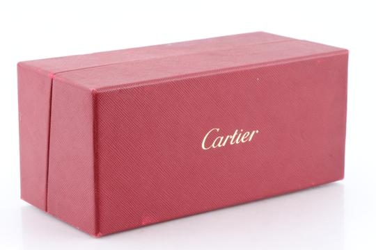 Cartier Cartier Brown 110 Panthere Rimless Sunglasses Image 11