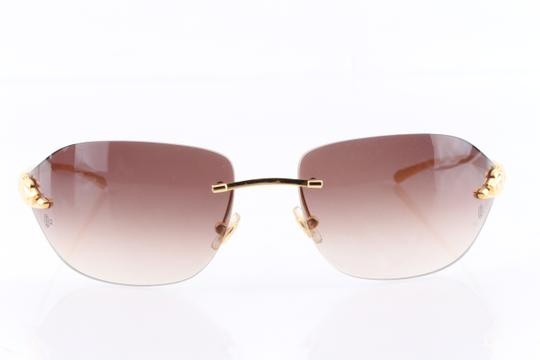 Cartier Cartier Brown 110 Panthere Rimless Sunglasses Image 2