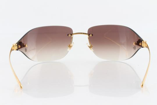 Cartier Cartier Brown 110 Panthere Rimless Sunglasses Image 3