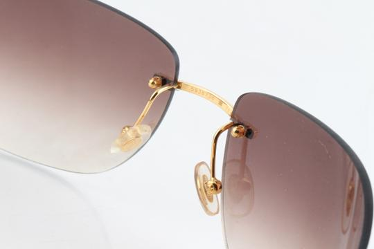 Cartier Cartier Brown 110 Panthere Rimless Sunglasses Image 8