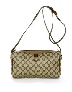 76908badb7a2 Added to Shopping Bag. Gucci Gg Monogram Web Cross Body Bag. Gucci Vintage  Gg Monogram Supreme Zip Top with Web Detail Brown Coated Canvas ...