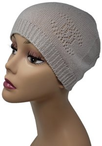 Chanel Beige cashmere Chanel interlocking CC knit beanie