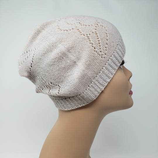 Chanel Beige cashmere Chanel interlocking CC knit beanie Image 3