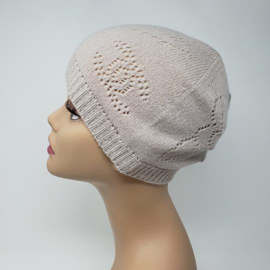 Chanel Beige cashmere Chanel interlocking CC knit beanie Image 6
