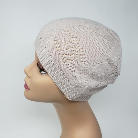Chanel Beige cashmere Chanel interlocking CC knit beanie Image 7