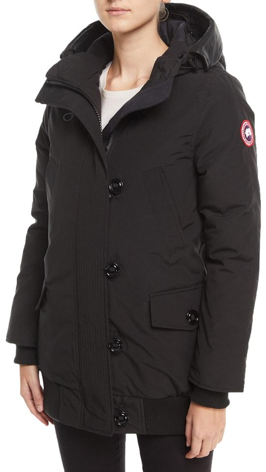 354cc064597 Canada Goose Black Finnegan 625-fill Power Down Parka with Genuine  Shearling Hood Coat Size 6 (S) 17% off retail