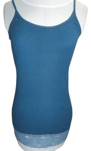 Abercrombie & Fitch Abercrombie & Fitch, Prussian Blue, T-Back Tank Top, Lace Trim