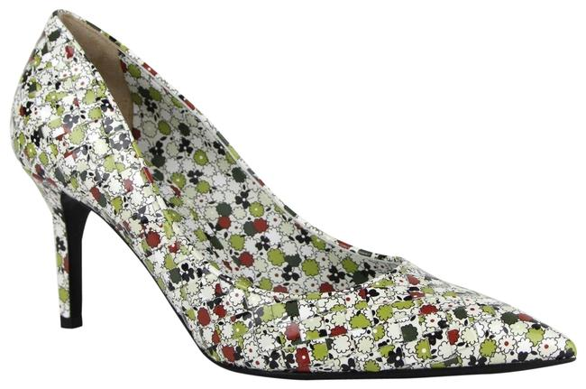 Item - Green/Red Green/Red Woven Leather Floral Heels It 38.8/Us 8.5 430538 8403 Pumps Size EU 38.5 (Approx. US 8.5) Regular (M, B)