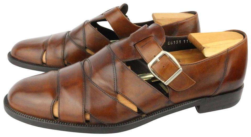 12e5010fec3c Cole Haan Brown Bragano Men s Leather Fisherman Sandals Size US 11.5 ...