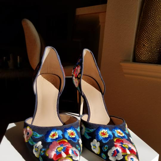 Tory Burch Navy/pansy Platforms Image 0
