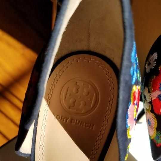 Tory Burch Navy/pansy Platforms Image 6