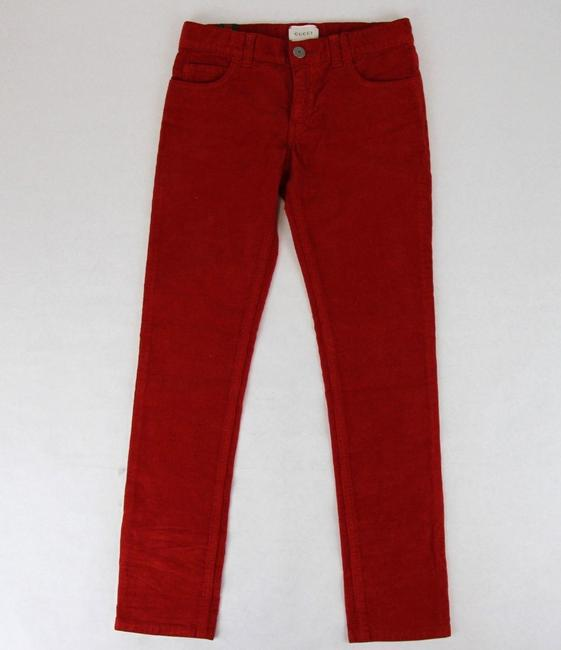 Item - Red Stretch Cotton Corduroy Pant with Brb Web 8 431163 6007 Groomsman Gift