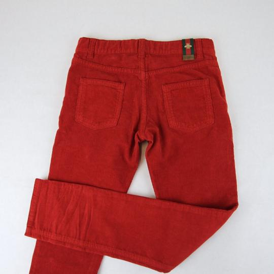 Gucci Red Stretch Cotton Corduroy Pant with Brb Web 8 431163 6007 Groomsman Gift Image 1