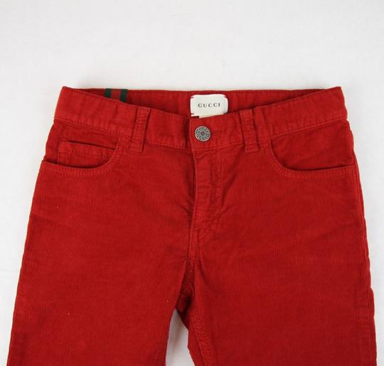 Gucci Red Stretch Cotton Corduroy Pant with Brb Web 8 431163 6007 Groomsman Gift Image 2