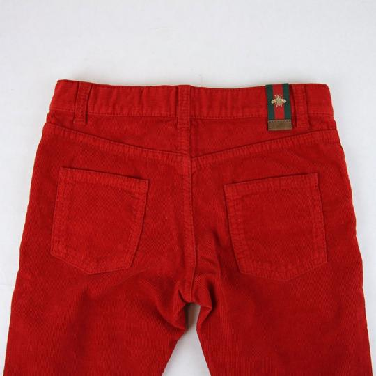 Gucci Red Stretch Cotton Corduroy Pant with Brb Web 8 431163 6007 Groomsman Gift Image 3