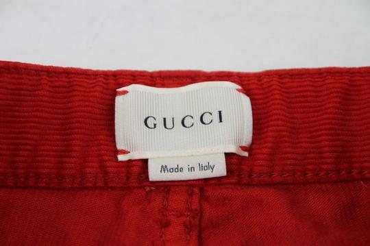 Gucci Red Stretch Cotton Corduroy Pant with Brb Web 8 431163 6007 Groomsman Gift Image 4