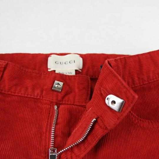 Gucci Red Stretch Cotton Corduroy Pant with Brb Web 8 431163 6007 Groomsman Gift Image 5
