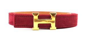 Hermès Rare 18Mm Gold H Size 65 Reversible leather Belt