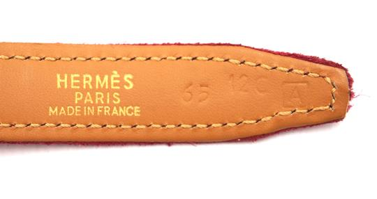 Hermès Rare 18Mm Gold H Size 65 Reversible leather Belt Image 1
