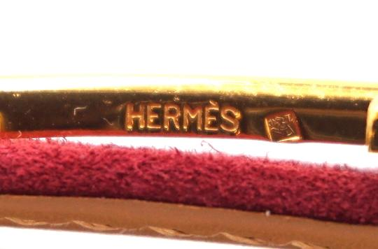 Hermès Rare 18Mm Gold H Size 65 Reversible leather Belt Image 3
